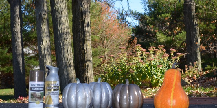 Rust-Oleum Painted Gourds