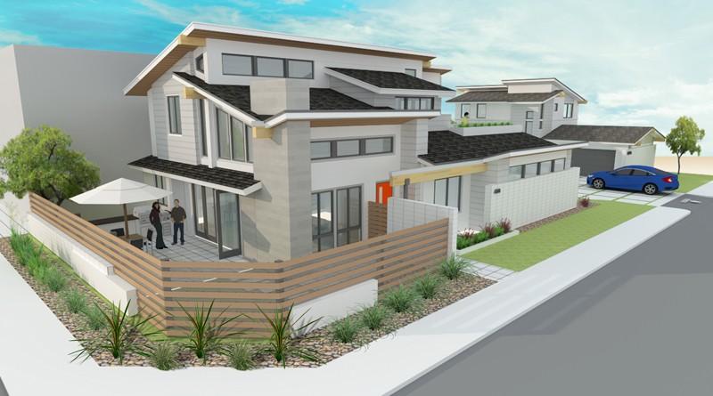 Abc Habitat exterior corner render