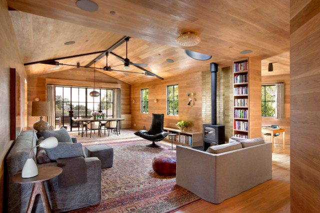 Andrew Mann Architecture considered every material and every option that would avoid any detrimental factors that would compromise the client's health and the home's efficiency.