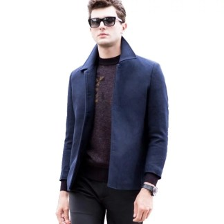 Business Trench Coat (Dark Blue, Grey)