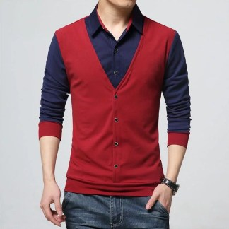 Patchwork T-shirt (Red)