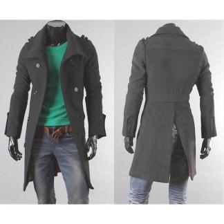 Long Slim Overcoat (Black)