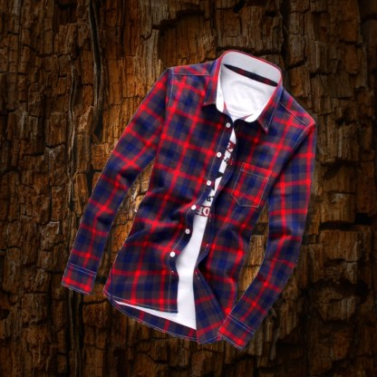 Plaid Long Sleeve Shirt available in 4 colors