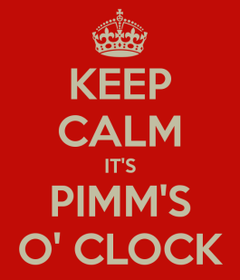 keep calm its pimms oclock