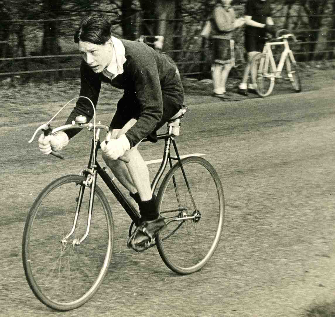 A young member of the Northwood Wheelers