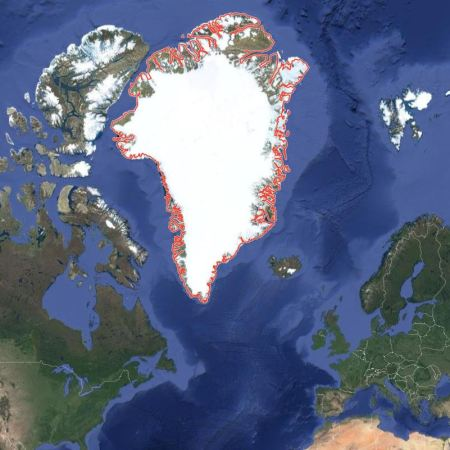 Greenland, the largest island in the world
