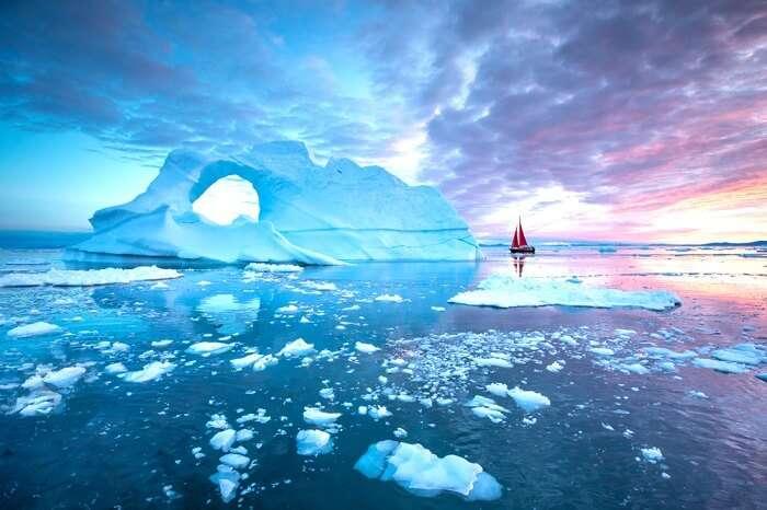 Greenland summer ice