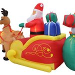 13-Foot-Long-Lighted-Christmas-Inflatable-Santa-Claus-and-Penguin-with-Gift-in-Sleigh-Pulled-by-2-Reindeer-Decoration-0-1