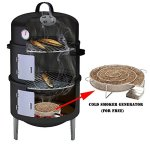 17-Black-Steel-Multi-functional-BBQ-Charcoal-Grill-Smoker-with-BBQ-Cooking-Accessories-Cold-Smoke-Generator-Meat-Smoking-Wood-Chips-0
