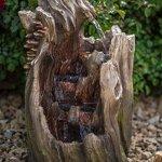 22-Walnut-Log-IndoorOutdoor-Garden-Fountain-Tiered-Outdoor-Water-Feature-for-Gardens-Patios-Original-Hand-crafted-Design-w-LED-Lights-0-1