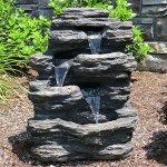 24-Rock-Waterfall-Garden-Fountain-w-LED-Lights-Perfect-Garden-Water-Feature-Patio-Fountain-Outdoor-Fountain-Features-Elegant-Waterfall-Flow-0-0