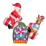 4-Foot-Animated-Christmas-Inflatable-Santa-Claus-and-Reindeer-on-Teeter-Totter-Outdoor-Yard-Decoration-0
