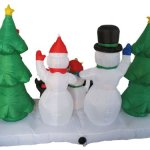 8-Foot-Long-Inflatable-Snowmen-Family-w-Pet-Penguin-Around-Christmas-Trees-0-1