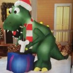 9ft-T-rex-Dinosauer-Christmas-Airblown-Inflatable-0