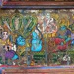 Antique-Doors-Hindu-God-Hand-Painted-Barn-Door-Brass-Fitted-Indian-Furniture-0-0