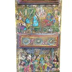 Antique-Doors-Hindu-God-Hand-Painted-Barn-Door-Brass-Fitted-Indian-Furniture-0