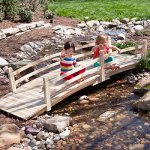Attractive-Design-Weather-Resistant-10-ft-Wood-Garden-Bridge-with-Rails-Assembly-Required-0-0