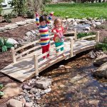 Attractive-Design-Weather-Resistant-10-ft-Wood-Garden-Bridge-with-Rails-Assembly-Required-0-1