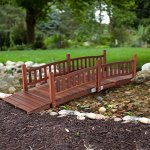 Beautiful-Classic-Look-and-Sturdy-Richmond-8-ft-Garden-Bridge-with-Traditional-Rails-Assembly-Required-0