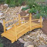 Best-Choice-Products-Wooden-Bridge-5-Natural-Finish-Decorative-Solid-Wood-Garden-Pond-Bridge-New-0-0