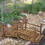 Best-Choice-Products-Wooden-Bridge-5-Stained-Finish-Decorative-Solid-Wood-Garden-Pond-Bridge-New-0
