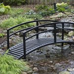 Black-Metal-Danbury-Garden-Bridge-8-ft-Double-Arched-Rails-and-a-Classic-Slatted-Walking-Surface-93L-x-28W-x-29H-in-Assembly-is-Required-0-1