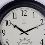 Chaney-Balmoral-Atomix-Black-18-in-Wall-Clock-0-1