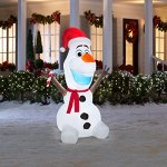 Disney-Frozen-Olaf-6-Foot-Scarf-and-Candy-Cane-Holiday-Yard-Airblown-Inflatable-0-0