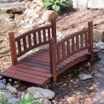 Durable-and-Gorgeous-Richmond-4-ft-Red-Shorea-Wood-Garden-Bridge-with-Arched-Hand-Rails-Assembly-Required-0-0