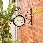 Esschert-Design-Plastic-Station-Clock-and-Thermometer-0-0
