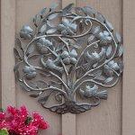 Flower-Tree-of-Life-Haiti-Metal-Wall-Art-Sculpture-Steel-Drum-225-X-23-0-0