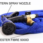 GENIUSWAY-100-Feet-Expandable-Fabric-Garden-Hose-with-Adjustable-Sprayer-and-Solid-Brass-End-Blue-0-0