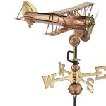 Good-Directions-8812PR-Biplane-Cottage-Weathervane-Polished-Copper-with-Roof-Mount-0