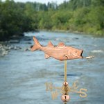 Good-Directions-8847PR-Bass-with-Lure-Cottage-Weathervane-Polished-Copper-with-Roof-Mount-0-0