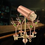 Good-Directions-8861PG-Martini-with-Glasses-Garden-Weathervane-Polished-Copper-with-Garden-Pole-0