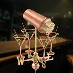 Good-Directions-8861PR-Martini-with-Glasses-Cottage-Weathervane-Polished-Copper-with-Roof-Mount-0-0