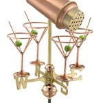 Good-Directions-8861PR-Martini-with-Glasses-Cottage-Weathervane-Polished-Copper-with-Roof-Mount-0