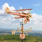 Good-Directions-9521P-Biplane-Weathervane-Polished-Copper-0-0
