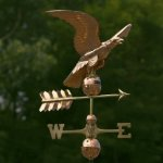 Good-Directions-955P-Smithsonian-Eagle-Weathervane-Polished-Copper-0-0