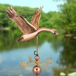 Good-Directions-9663P-Feathered-Goose-Weathervane-Polished-Copper-0-0