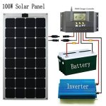 GreeSonic-SunPower-Semi-Flexible-Solar-Panel-100W-ETFEAluminum-Photovoltaic-Solar-Panel-Thermostable-with-MC4-connectors-0-0