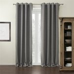 IYUEGOU-Modern-Grey-Solid-Grommet-Top-Blackout-Curtains-Draperies-With-Multi-Size-Customs-0