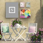 Kess-InHouse-KESS-Original-Monogram-Solid-Grey-Letter-N-Outdoor-Canvas-Wall-Art-20-by-24-Inch-0-1