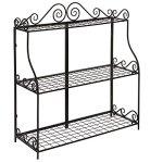 Large-Freestanding-Black-Metal-Scrollwork-3-Tier-Plant-Stand-Bathroom-Kitchen-Storage-Organizer-Shelf-Rack-0-1