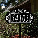Le-Paris-Garden-Reflective-911-Home-Address-Sign-for-Yard-Custom-Made-Address-Plaque-with-Monogram-Great-Gift-Exclusively-By-Address-America-0-0