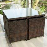 Merax-9-Pc-Modern-IndoorOutdoor-All-Weather-PE-Wicker-Rattan-Table-Patio-Set-Gardern-Furniture-Dining-Sets-0-1