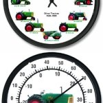 New-Oliver-12-Tractors-1926-1969-10-Wheel-Dial-Clock-10-Round-Oliver-88-Thermometer-0