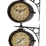 Outdoor-Waterproof-8-Double-Sided-Clock-And-Thermometer-Indoor-Rustic-Charleston-Clock-0