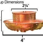 Rain-Chain-Pure-Copper-by-Golden-Canary-6-Foot-Long-Ready-to-Install-in-Gutter-Decorative-Downspout-Replacement-for-Collecting-Water-in-a-Barrel-0-0