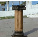 Roman-Greek-Column-pedestal-Antique-Finish-Brown-Color-0-0